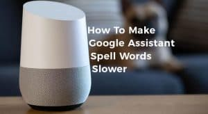 How To Make Google Assistant-Spell Words Slower