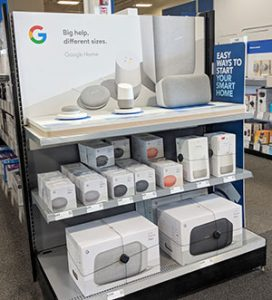 Google Home at Best Buy